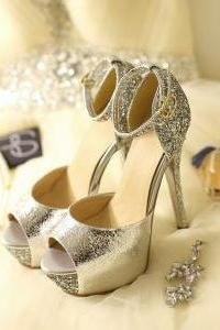 Sexy Stitching High-Heeled Shoes ( 13 Cm )