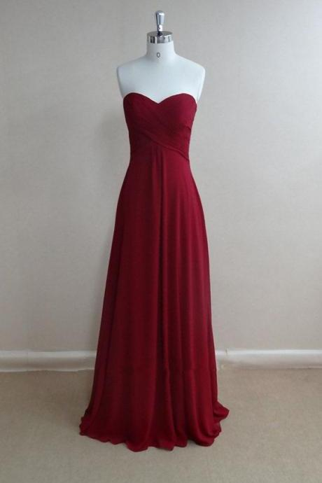 Simple and pretty Burgundy Prom Dresses 2015, High quality Prom Gown 2015, Bridesmaid Dresses, Evening Dresses, Formal Dresses