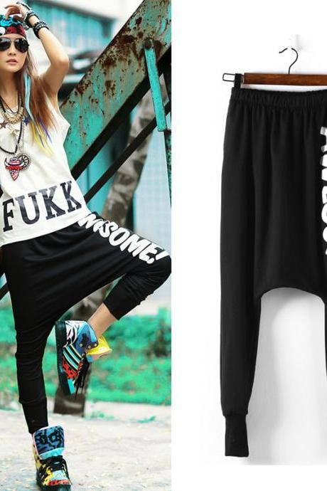 2015 New Womens Summer Hip Hop Casual Baggy Harem Pants Dance Jogger Sport Girl Jogger Slacks Sweatpants