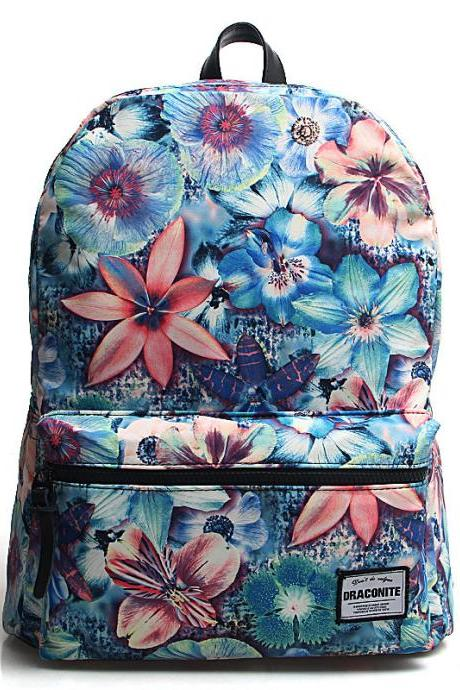 Multicolored Laptop Bag Casual Canvas Backpack