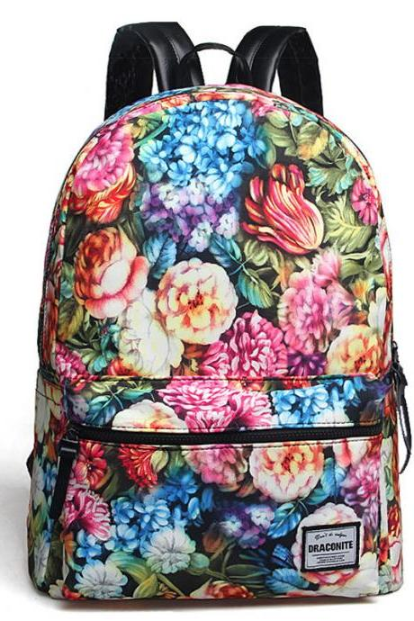 Colorful Laptop Bag Casual Canvas Backpack