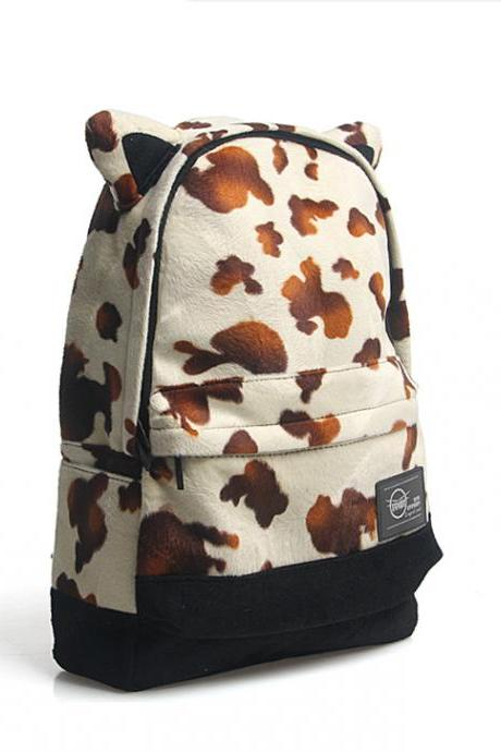 Leopard Printed Laptop Backpack