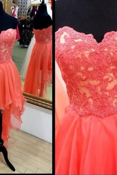 Pd456 Fashin Prom Dress,High Low Prom Dress,Appliques prom Dress,Strapless Prom Dress,A-Line Prom Dress