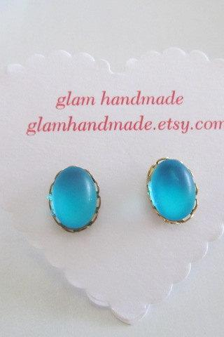 Blue Galaxy Stud Earrings