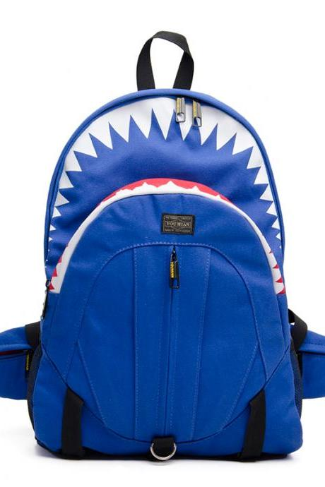 Shark Large Canvas Backpack From Pomelo