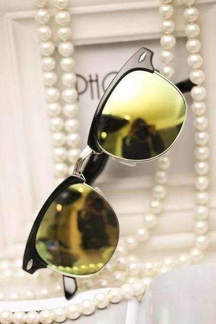 Beach Party Cat Eye Yellow Lenses Unisex Sunglasses