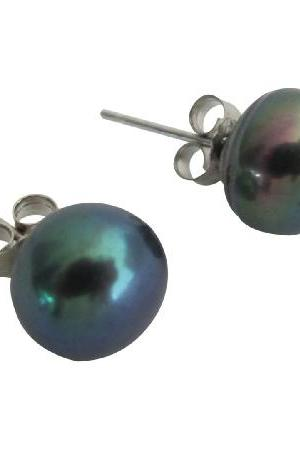 Elegant Shell Pearl Stud Earrings Tahitian Pearls