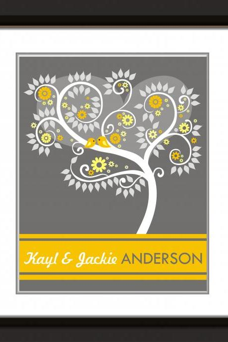 PERSONALIZED Wedding signature Tree, guest book alternative 75 signatures 16x20