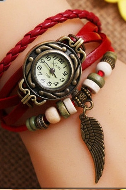 Retro Style Women's Leather Wrist Watch