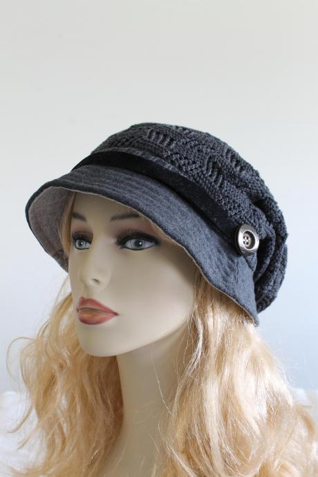Hat Knitted Slouchy woman handmade knitting hat clothing cap crochet