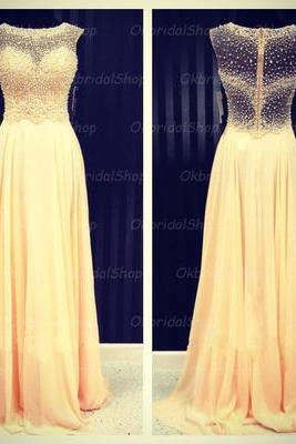 see through prom dress, 2015 prom dress, chiffon prom dress, long prom dresses, cheap prom dress, prom dresses 2015, CM131