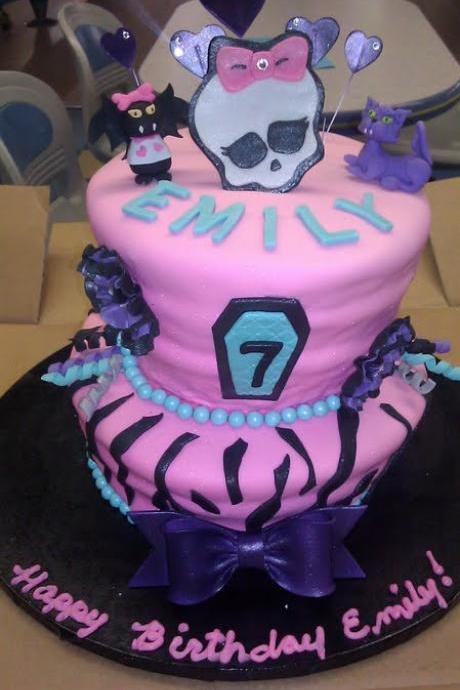 Fondant Monster High Inspired Cake Topper Set (4 pieces)