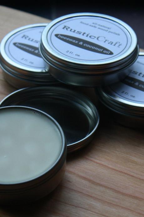 Coconut Oil Beeswax Wood Butter - All-Natural Organic Coconut Oil & Beeswax Cutting Board Conditioning Paste