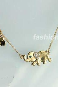 Elephant Family Necklace Women Necklace Girls Necklace