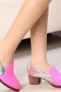 In The Rough With A Pointed Heel Shoes Women High Heels Shoes Sheep
