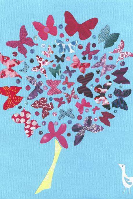 Butterfly Tree - Art Print - 10 x 8