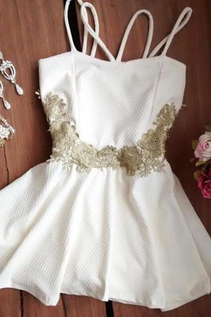 Fashion Sling white dress ERV86NS