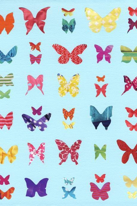Butterfly Sampler - Art Print - 10 x 8