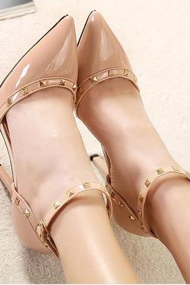 Sexy Studded Nude High heels Shoes