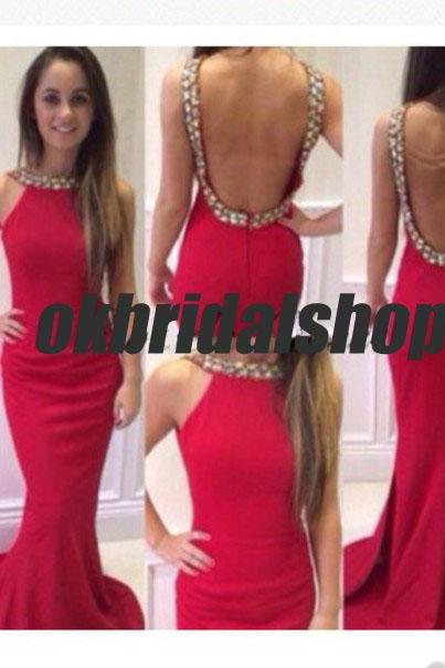 red backless prom dresses, backless prom dress, sexy prom dresses, tulle prom dresses, 2015 prom dresses, sexy prom dresses, dresses for prom, CM196