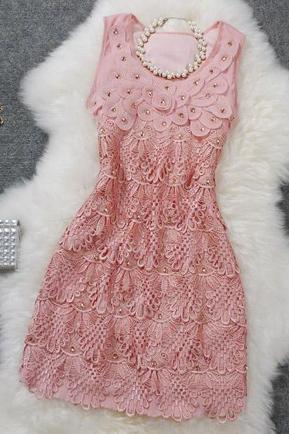 Sexy Exquisite Embroidered Dress Three-Dimensional Beaded Sequined Dress