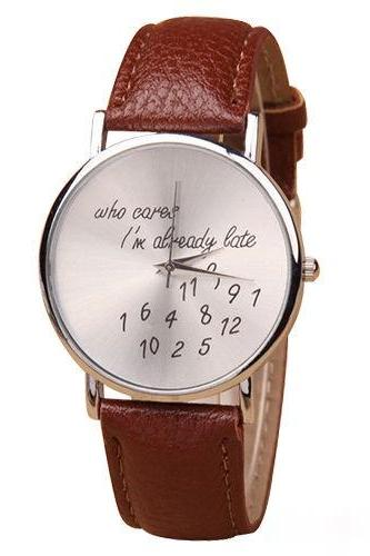 style watch, special watch, dark brown watch, leather watch, bracelet watch, vintage watch, retro watch, woman watch, lady watch, girl watch, unisex watch, AP00063