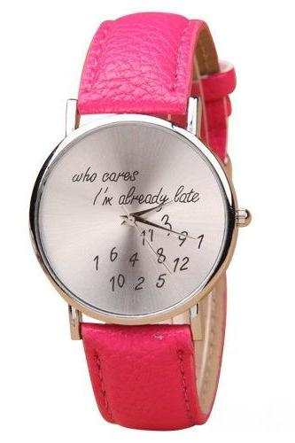 style watch, special watch, hot pink watch, leather watch, bracelet watch, vintage watch, retro watch, woman watch, lady watch, girl watch, unisex watch, AP00064