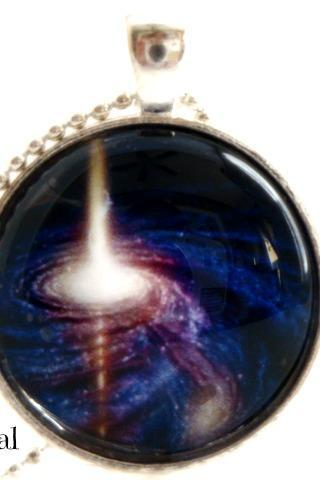 Galaxy XI-handmade glass pendant