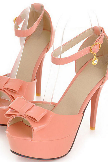 Bow Slip Buckle Ankle Stiletto Sandals