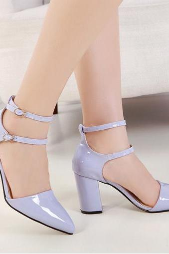 2015 New fashion Sexy Women Sweet High-Heeled Sandals With Pointed Toe