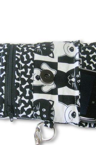 Phone Wristlet, Cellphone Wallet, Cat Dog Bones