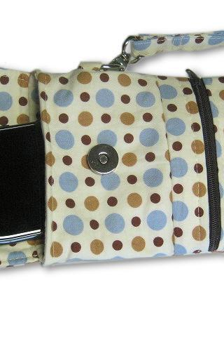 Phone Wristlet, Cellphone Wallet, Polka Dot