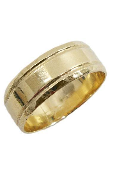 14K gold UNIQUE wedding band (gr-9325). gold wedding band for men women, yellow gold