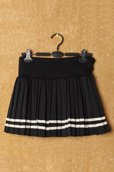 Salior Pleated Mini Skirt