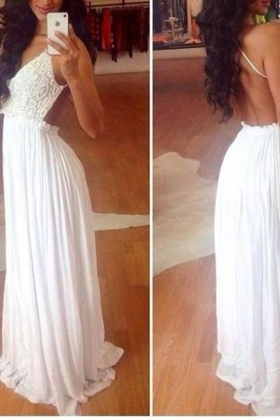 Custom Made 2015 Sexy Long Prom Dresses ,Women Evening Dresses,backless prom dress,lace prom dress