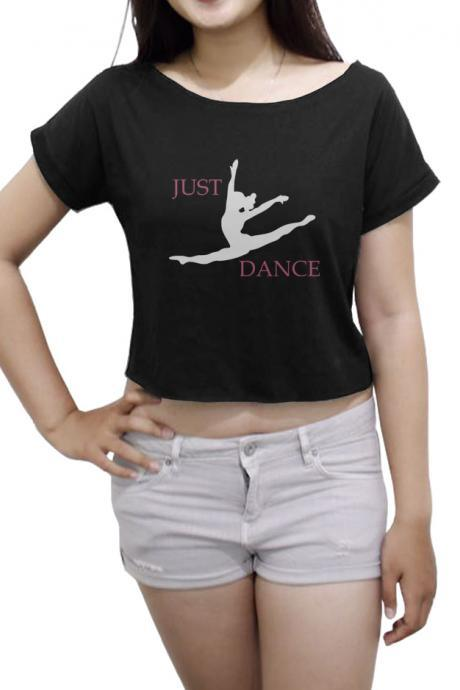 Just Dance Women's Crop Tee Ballet Shirt Dance Crop Top