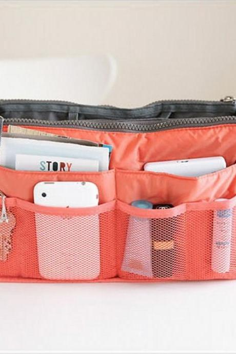 Storage consolidation makeup bag handbag liner bag