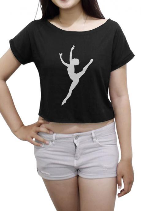Dance Tee Shirt Ballet Women's Crop Top