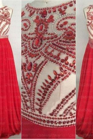 see through prom dresses, beaded prom dress, red prom dresses, chiffon prom dresses, 2015 prom dresses, sexy prom dresses, dresses for prom, CM310