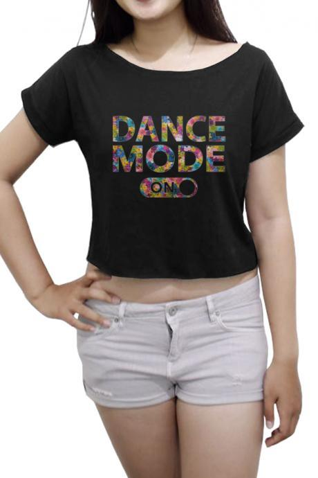 Flower Dance Mode On Shirt Ballet Tee Women's Crop Tops