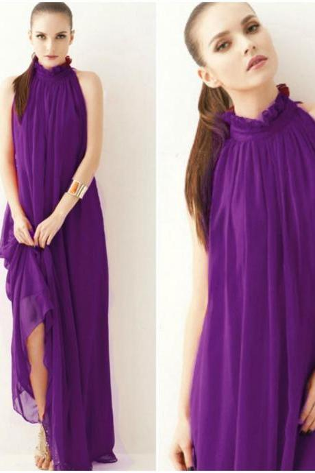 Purple Maxi Long Dress for Women High Quality Purple Maxi Summer Dress Affordable Price-RECEIVE THIS DRESS AFTER 2 DAYS