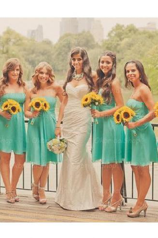 turquoise bridesmaid dresses, chiffon bridesmaid dress, short bridesmaid dress, cheap bridesmaid dresses, bridesmaid dress 2015, BM026