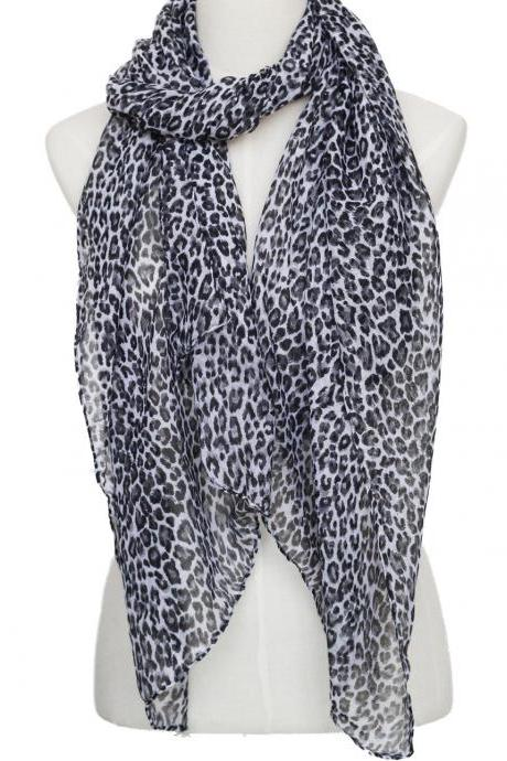 sheer cotton leopard print scarf shawl wrap spring summer scarves