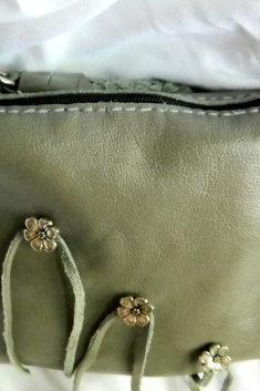 Hand Sewn Sage Leather Handbag