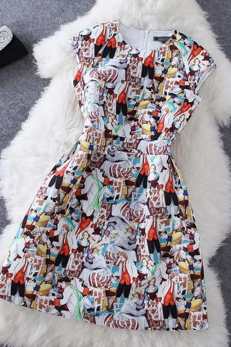 New Fashion Print Sleeveless Dress