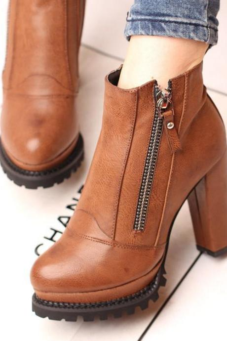 Retro color bare boots 6217ED