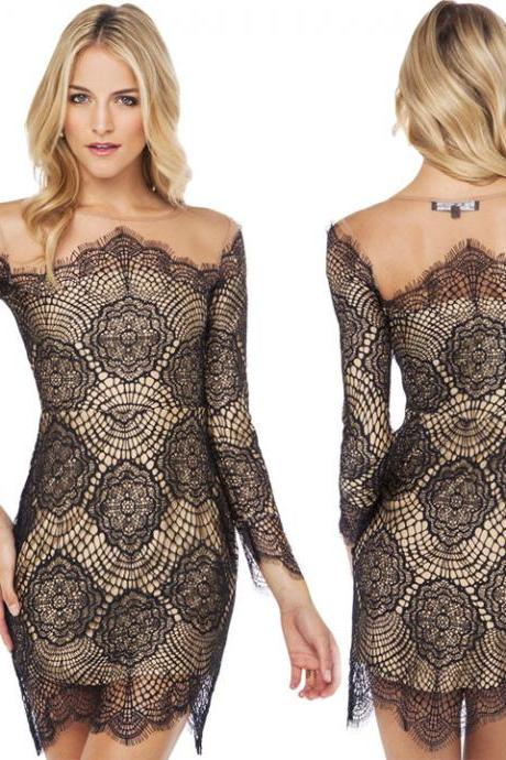 Sexy Women Sexy Lace Bodycon Slim Mini Dress Cocktail Club Party Evening Dress