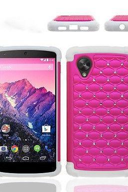 RED SPOT DIAMOND HYBRID COVER SILICONE HARD CASE for LG GOOGLE NEXUS 5