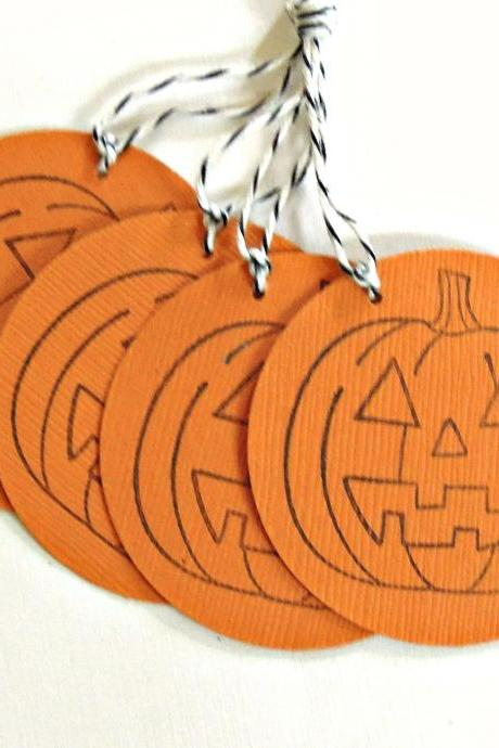 Pumpkin Tags - Set of 4