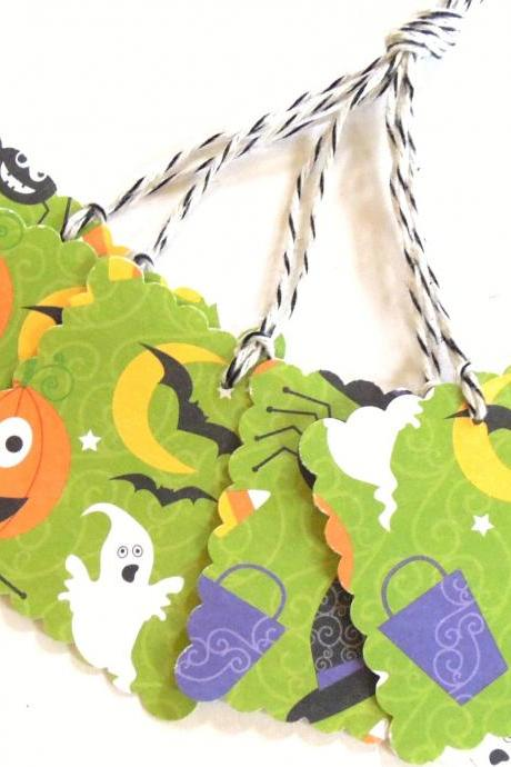 Funky Halloween Tags - Set of 5